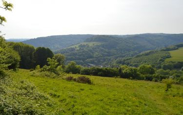 Countryside Over Brockweir, Wye Valley