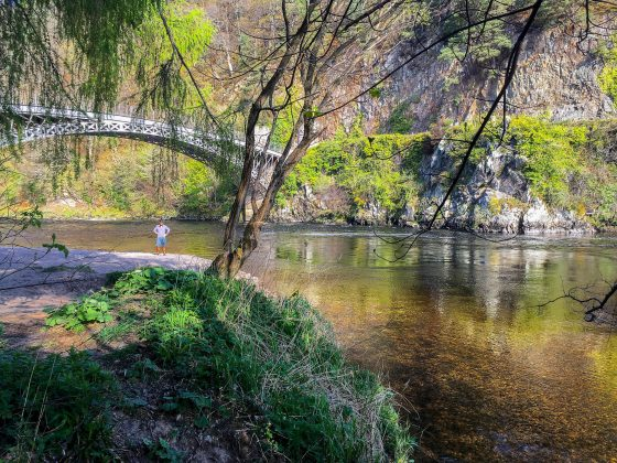 Craigellachie Bridge over the Spey, walking holidays in the uk for beginners