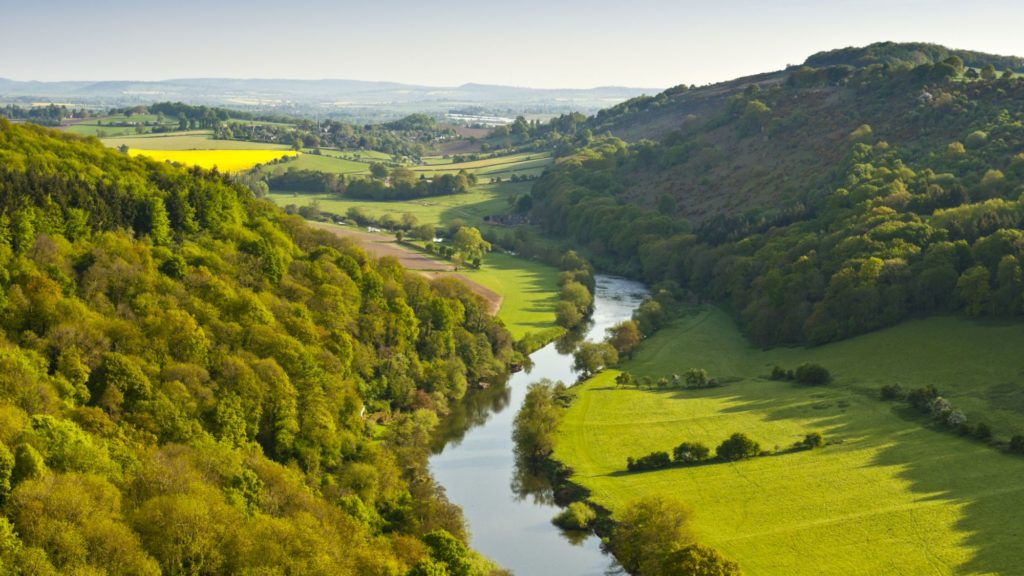 View of the Wye valley from Eagle's Nest point