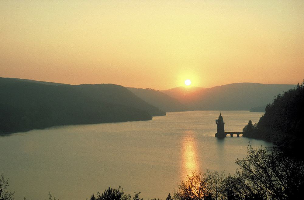 Lake Vrynwy Mid Wales Scenery