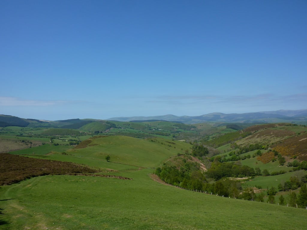 Foel Fadian on the Glyndŵr's Way