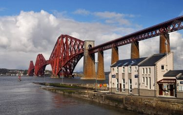 Forth Bridge on the fife Coast path