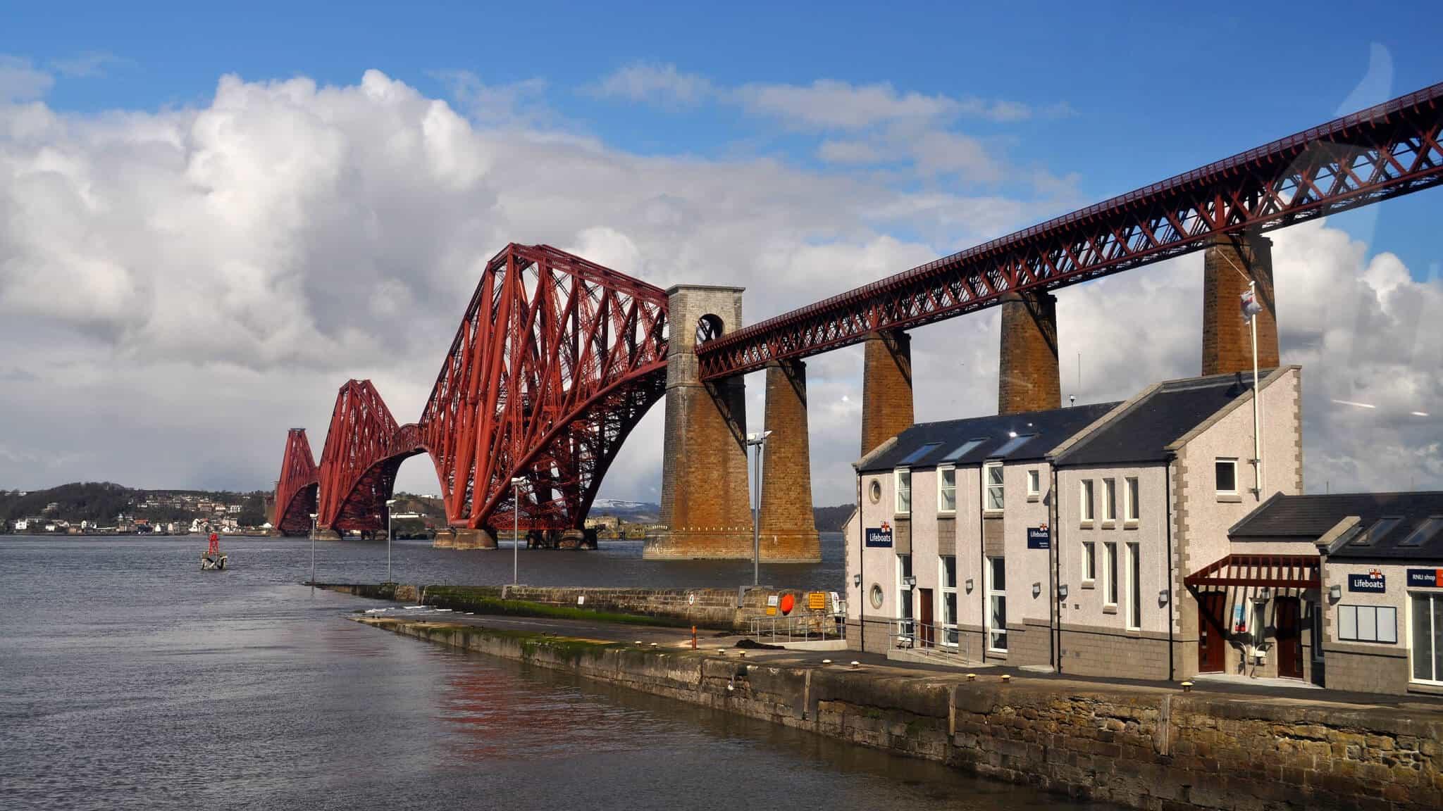 Forth Bridge on the fife Coast path
