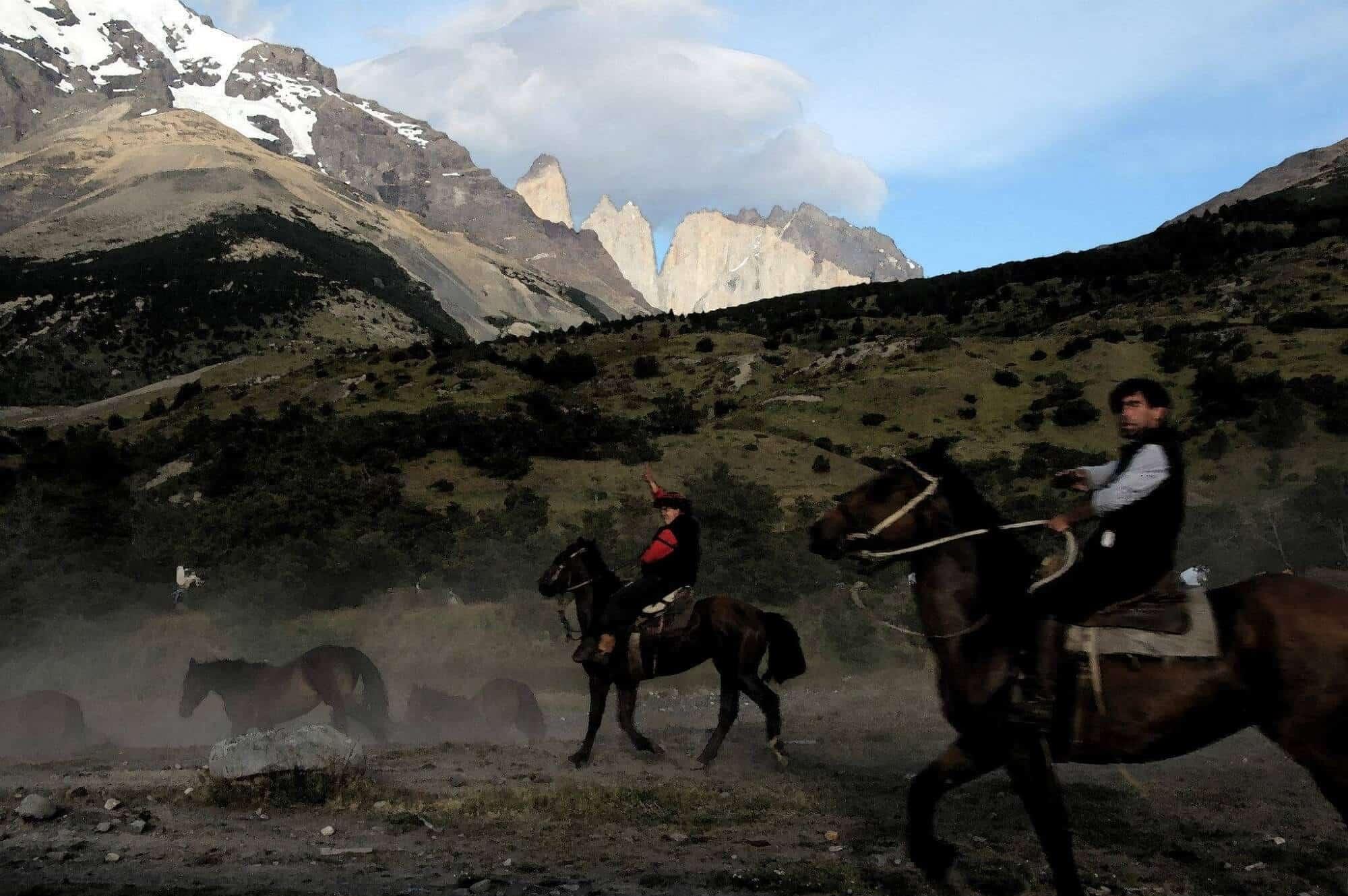 Gauchos on Horseback, Patagonia