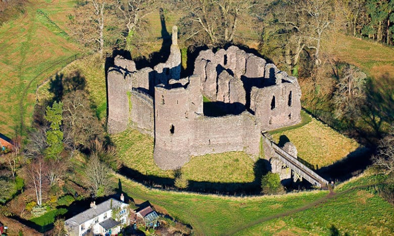 Grosmont Castle Monmouthshire Aerial
