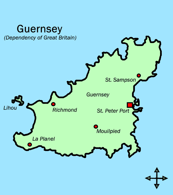 Guernsey England Map.Guernsey Walking Holidays Self Guided Scenic Walks Celtic Trails