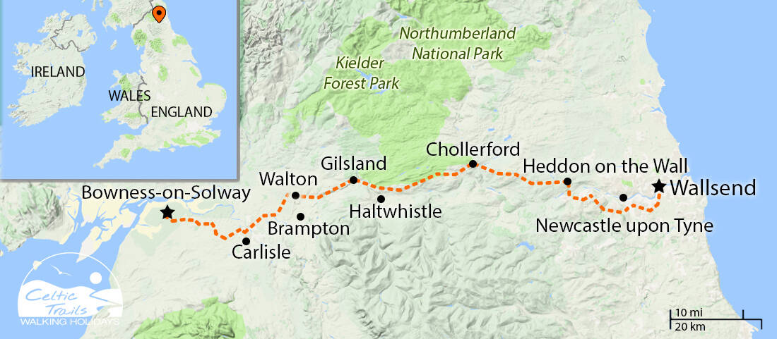 Map Of England 850.Walking Holidays In England Self Guided Walking Escapes Celtic