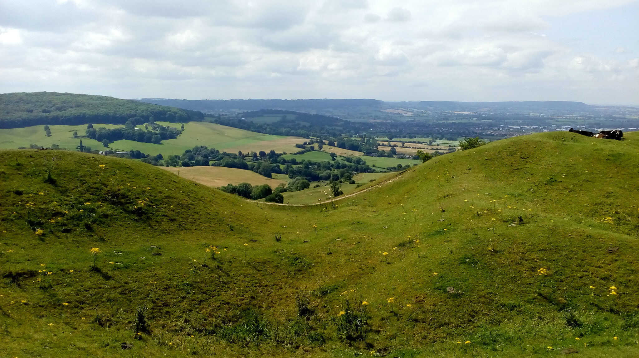 Haresfield beacon on the Cotswold Way