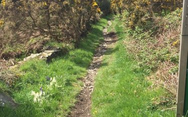 Isle of Man Coastal Way Route into Laxey