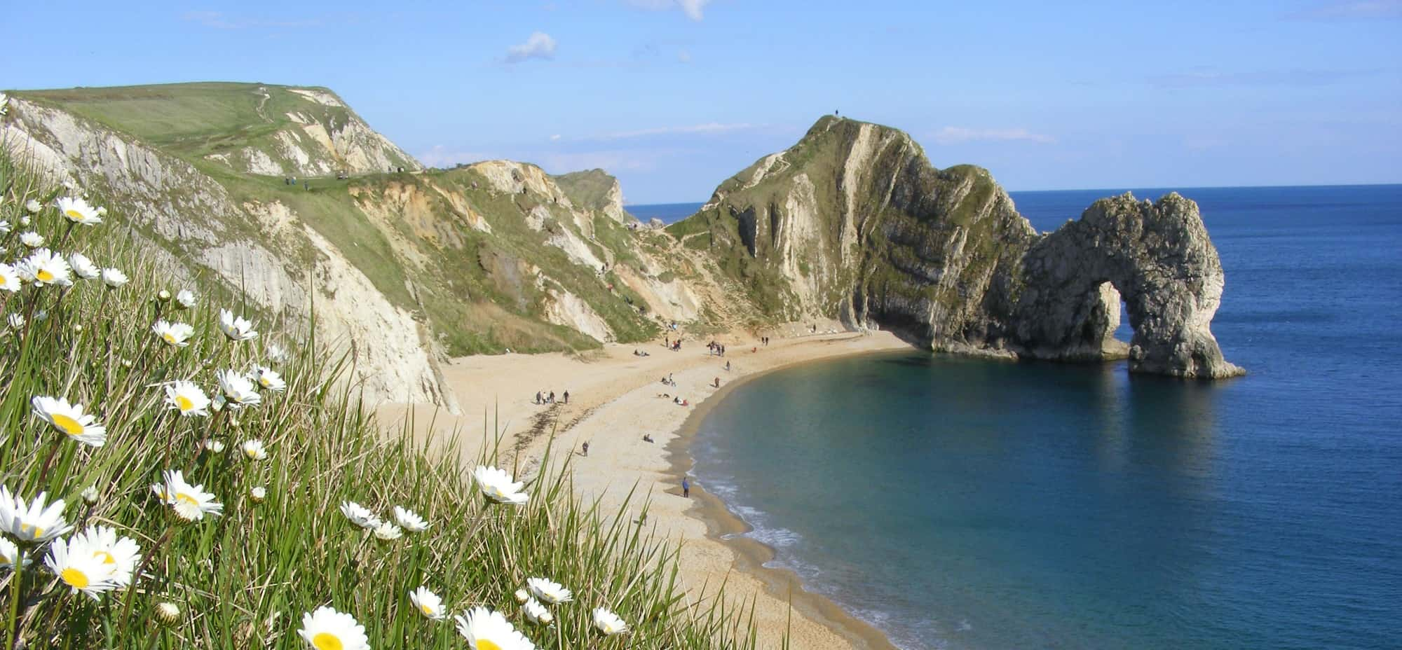 Jurassic Coast Walk with Durdle Door near West Wareham in England
