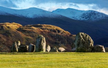 Keswick Standing Stones on the Cumbria way