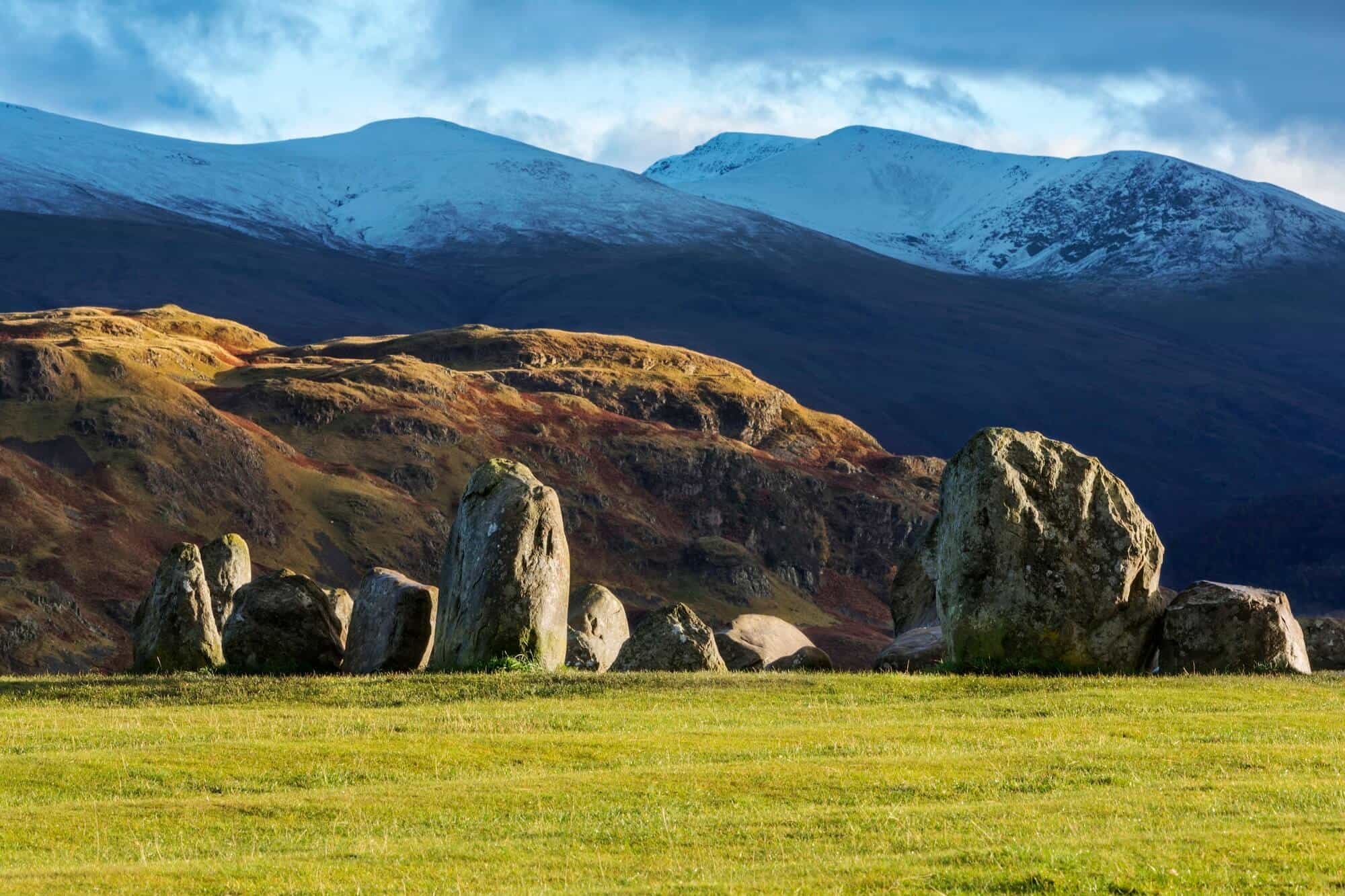 Keswick Standing Stones on the Cumbria way