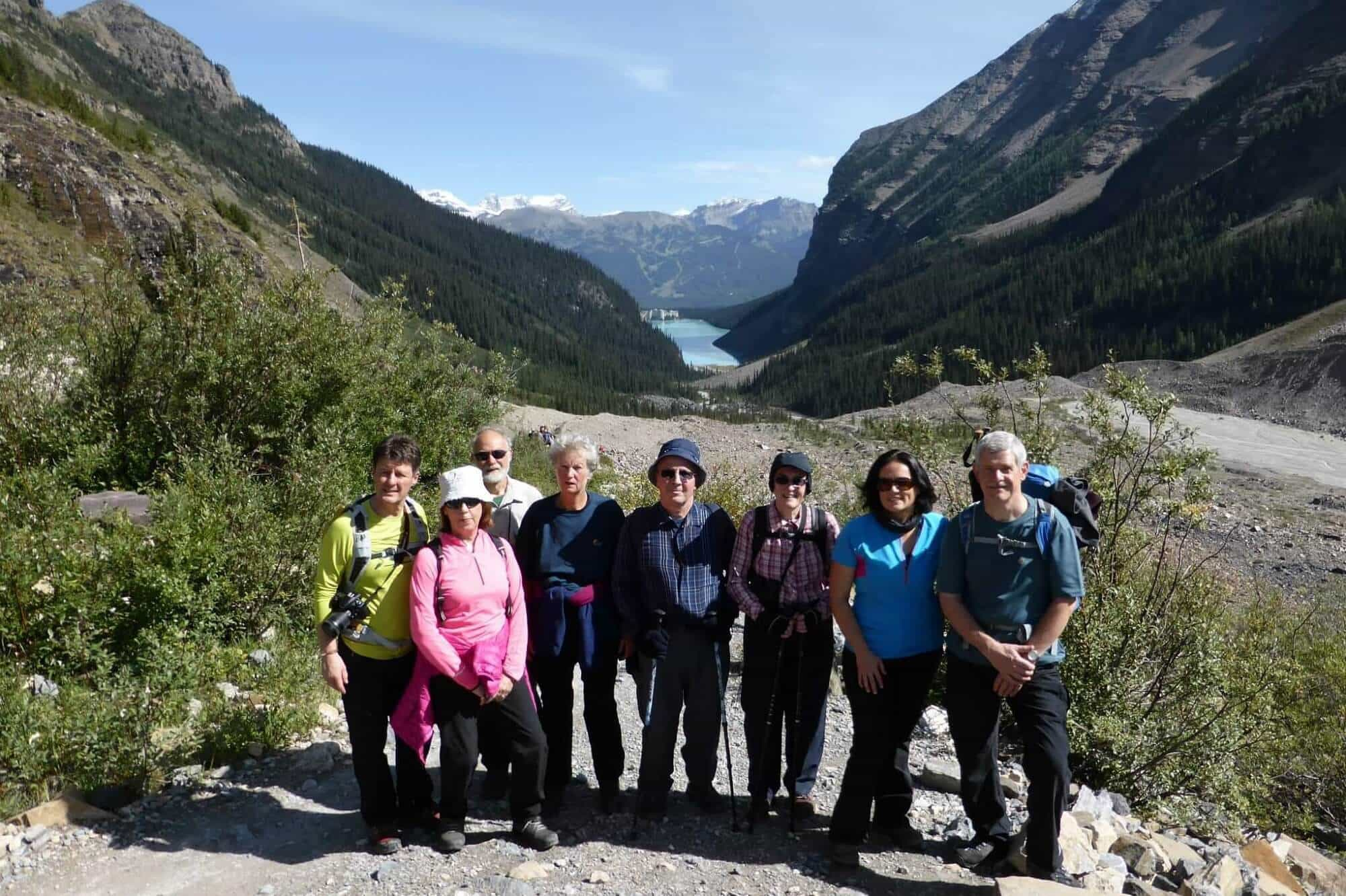 Langdale Walkers on The Plain of Six Glaciers