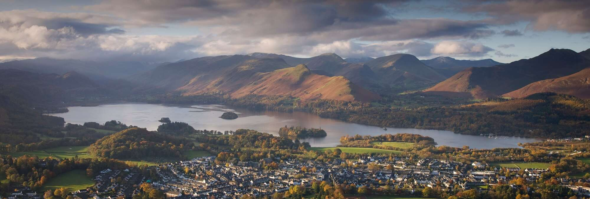 Latrigg near Keswick with Derwentwater lake in the far distance