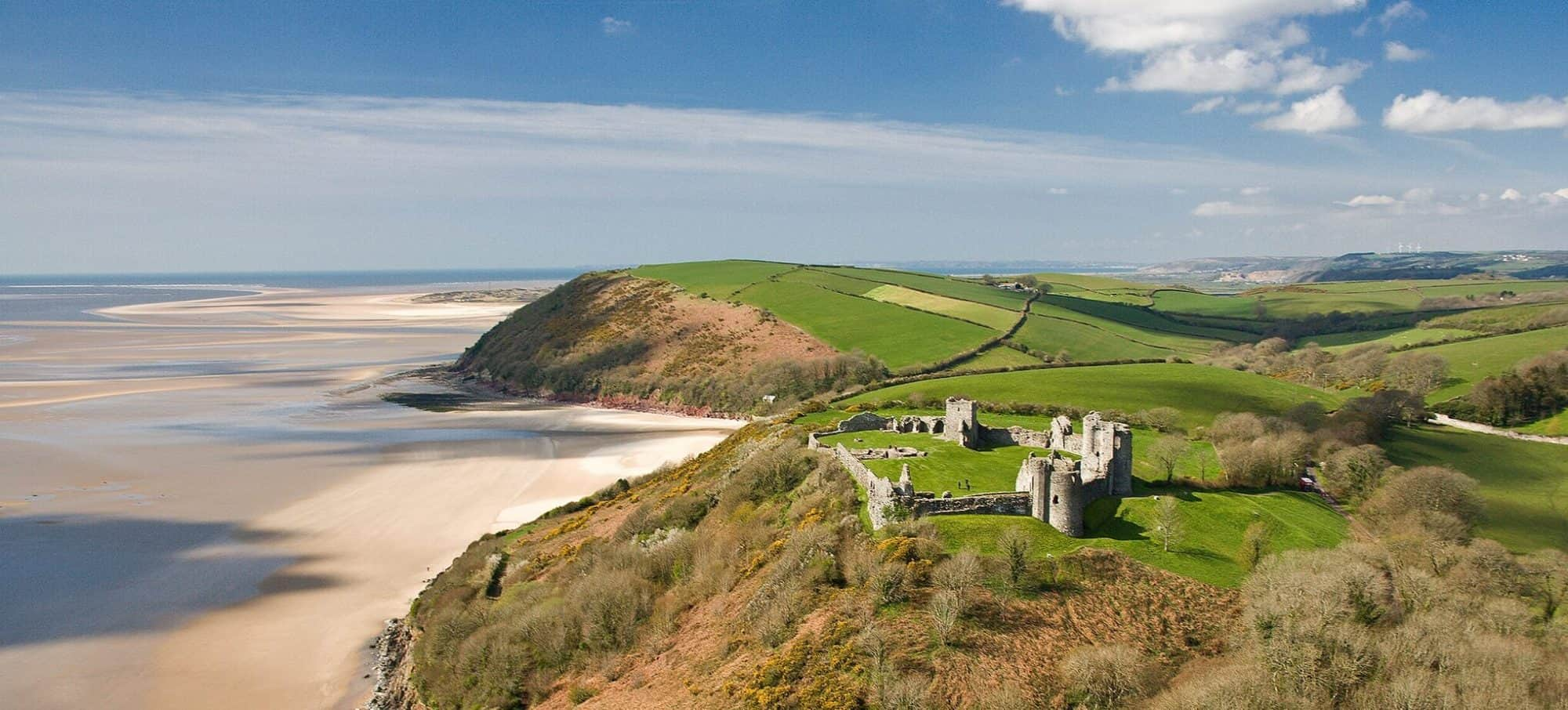 Llansteffan Castle on the Carmarthenshire coastal path