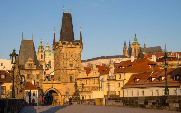 Morning on Charles Bridge Prague