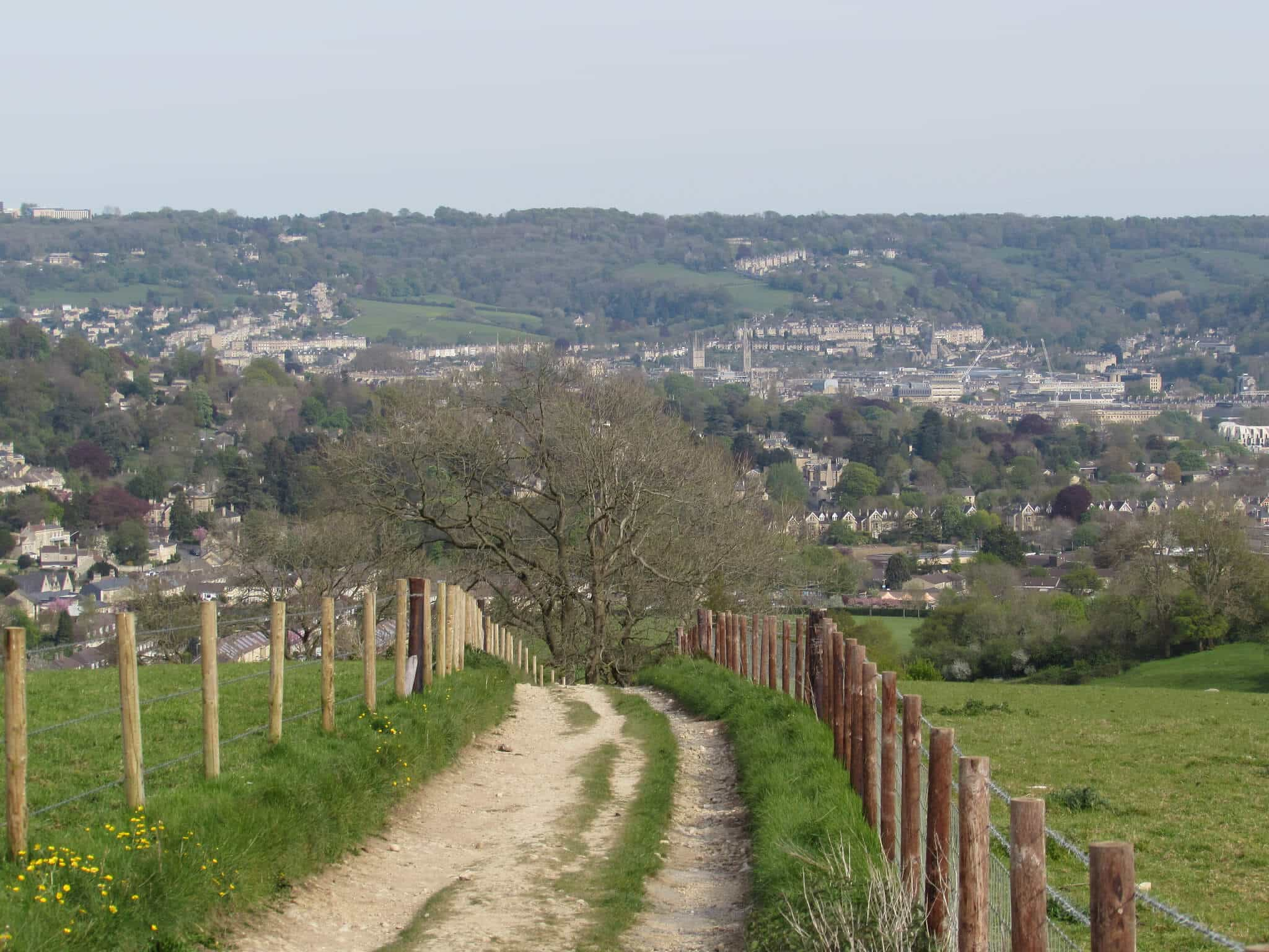 Hiking into Bath on the Cotswold Way