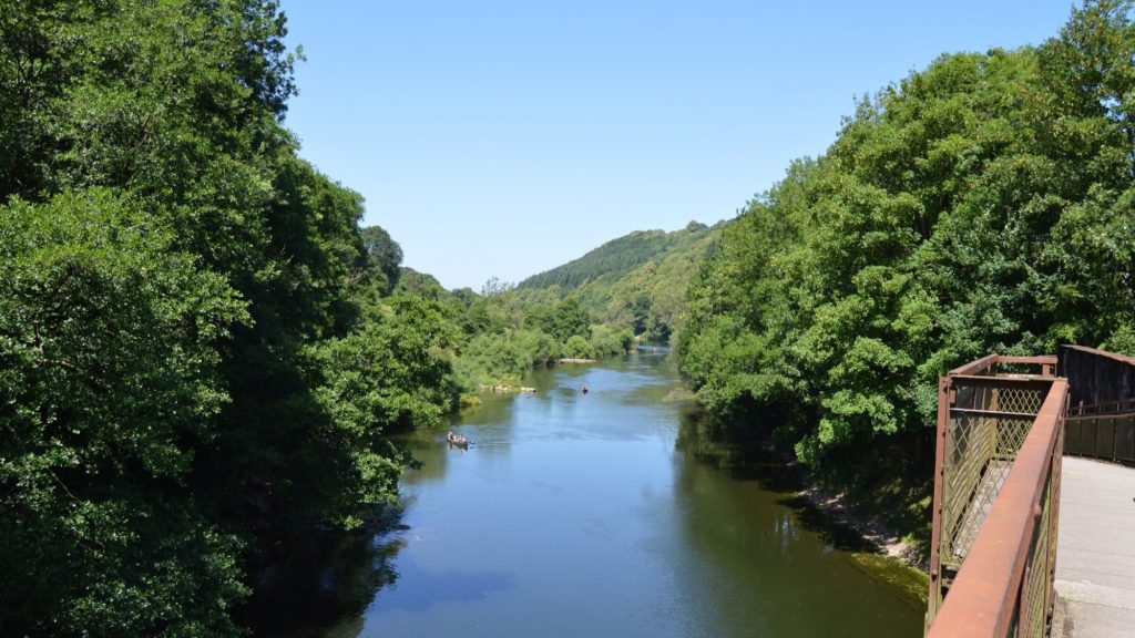 View of the river wye from Penallt Viaduct