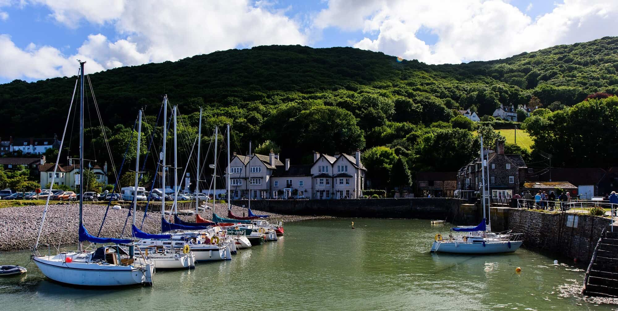 Porlock harbour part of our Coleridge Way Walking Holidays