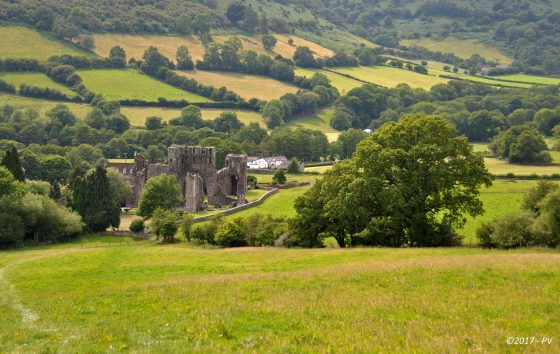 Llanthony Priory, walking holidays in the uk with luggage transfer