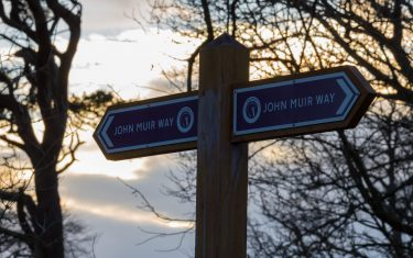 John Muir Way Signpost