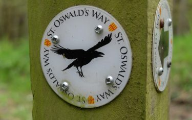 St Oswald's Way Marker