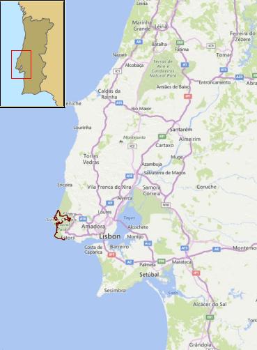 Sintra-Cascais-Walking-Holidays-Map