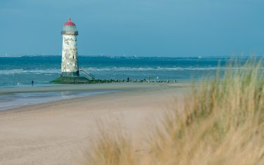 Talacre beach on the North Wales Coast Path