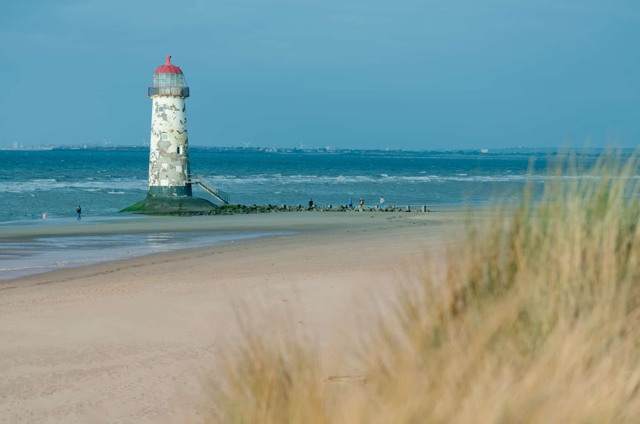 Talacre beach on the North Wales Coast Path