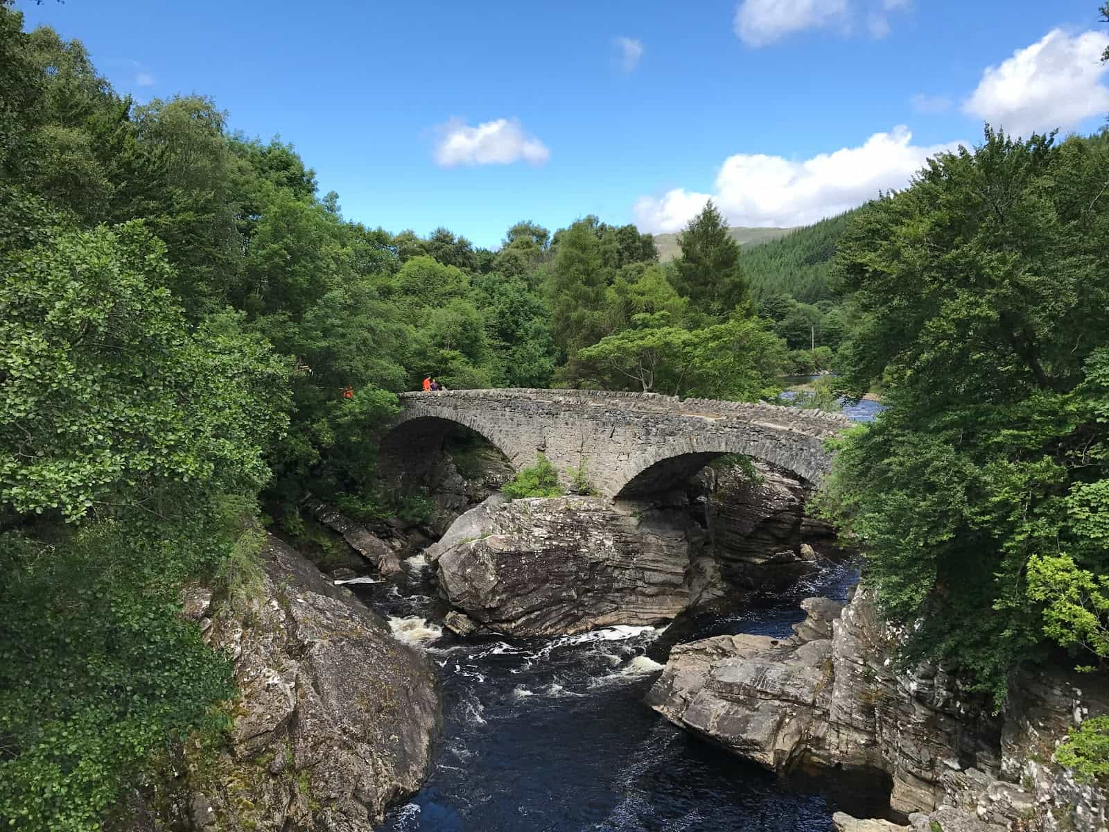 Telford bridge ove River Moriston, Great glen Way Walking holidays