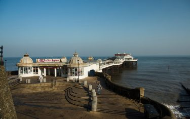 Traditional Victorian pier at Cromer walking Holidays in Norfolk