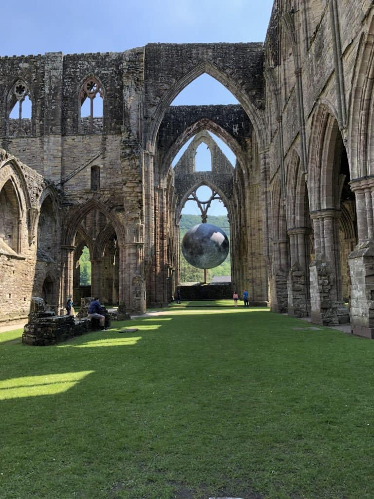 Tintern Abbey Art Installation Moon