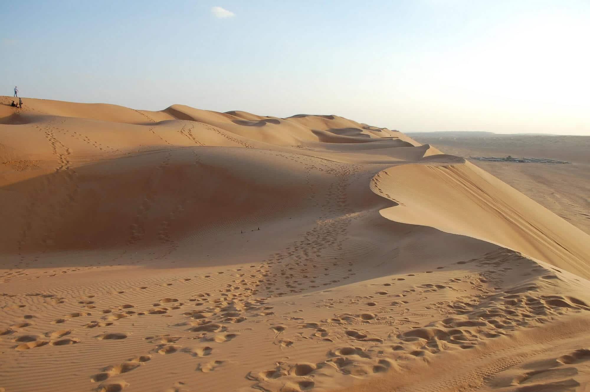 Travelling through Omani desert