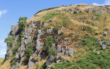 Whin Sill - the natural barrier used by the Romans to keep out the barbarians