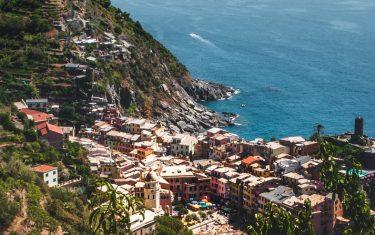 Vernazza Ariel Coastline