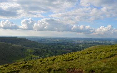 View over Brecon Beacons National Park