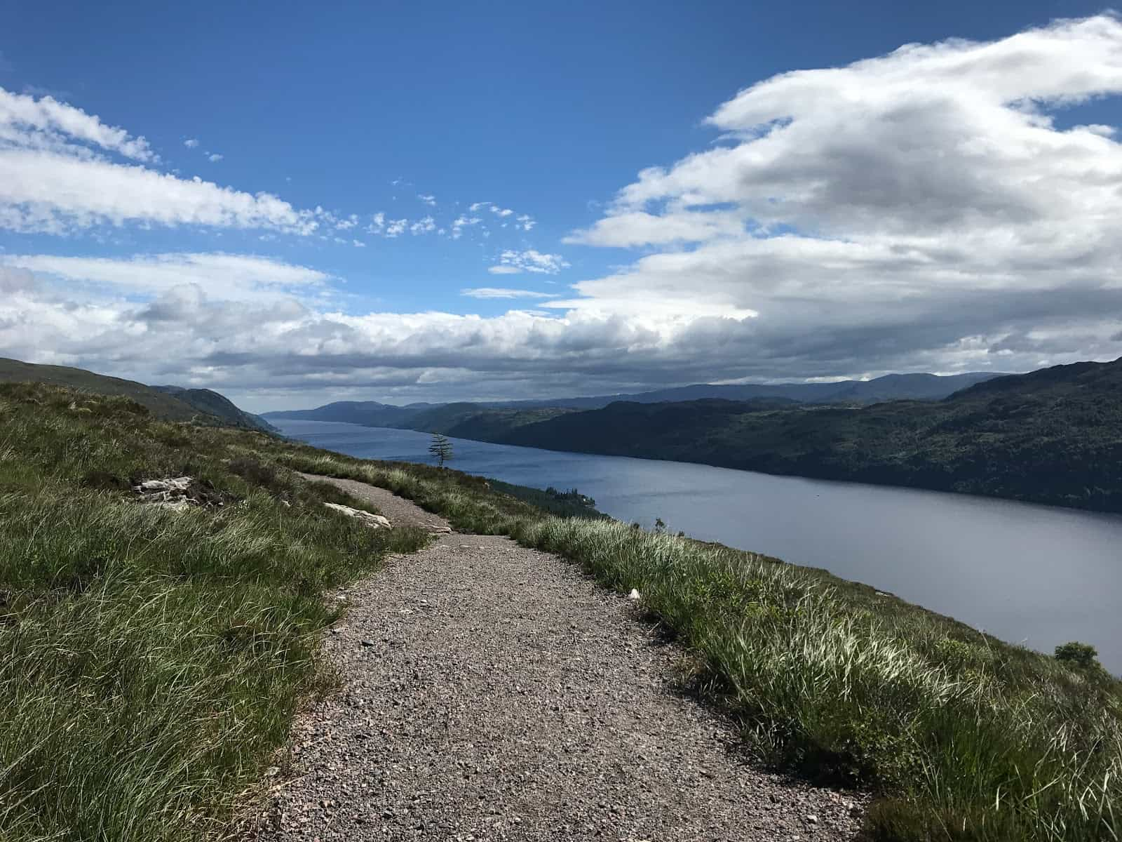 View over Loch Ness, Scotland walking holidays