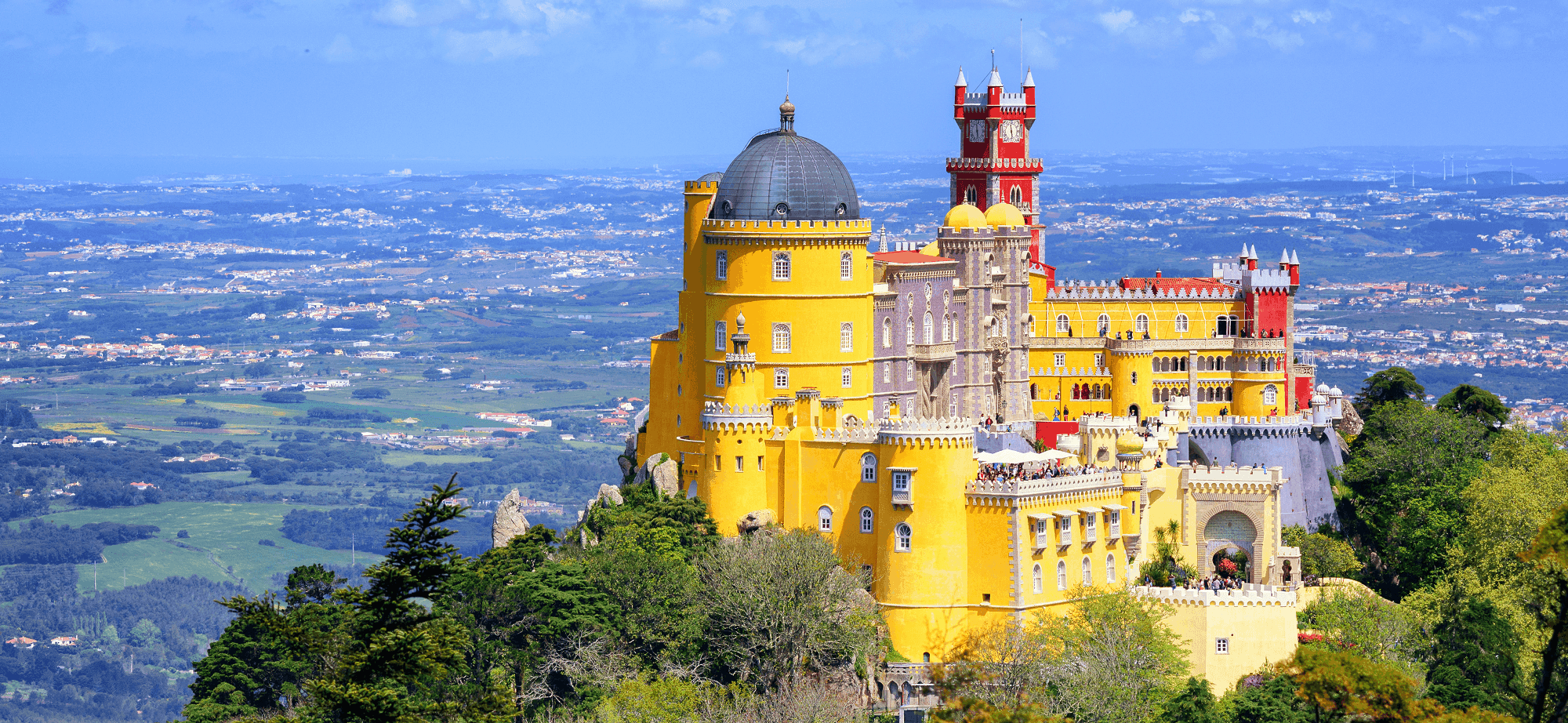 View over Pena Palace, Sintra