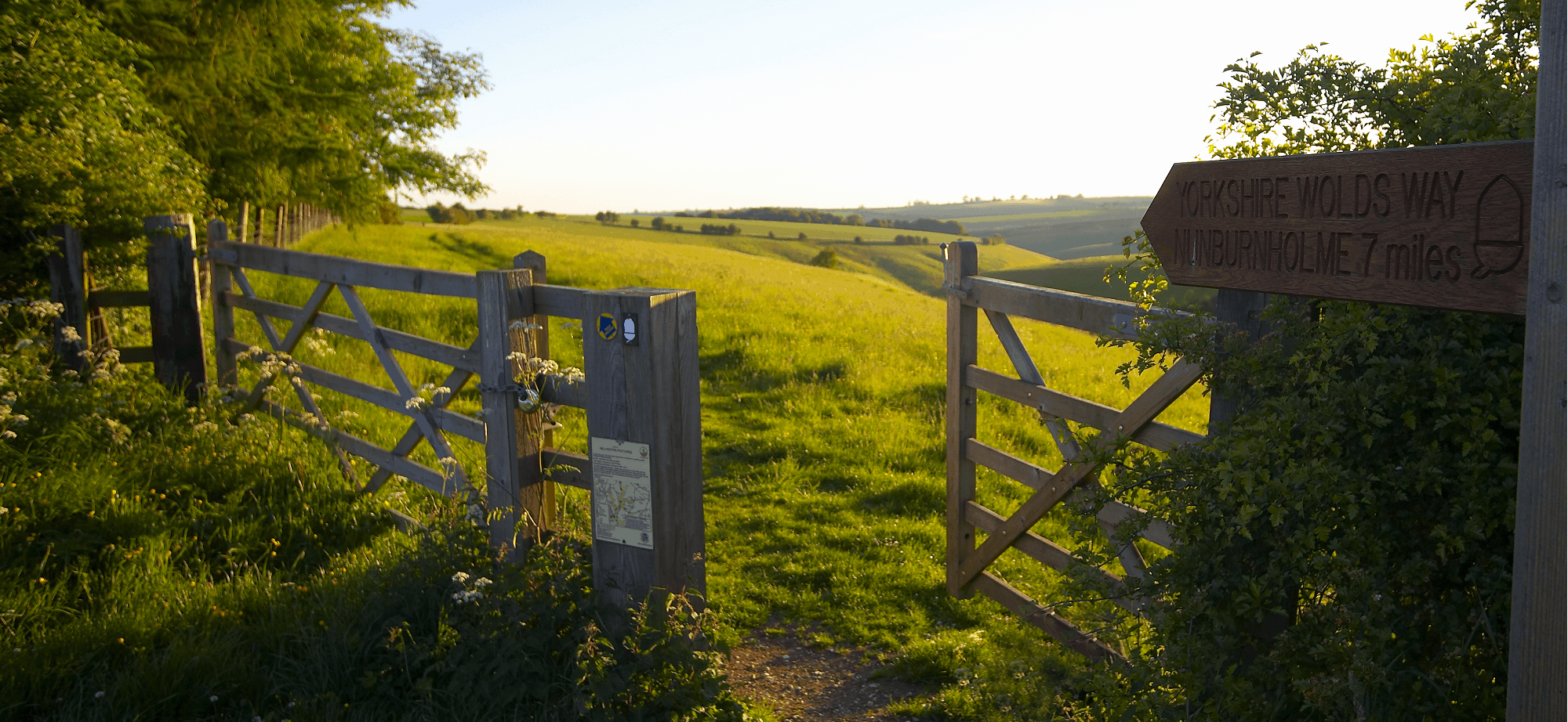 Yorkshire Wolds Way Marker