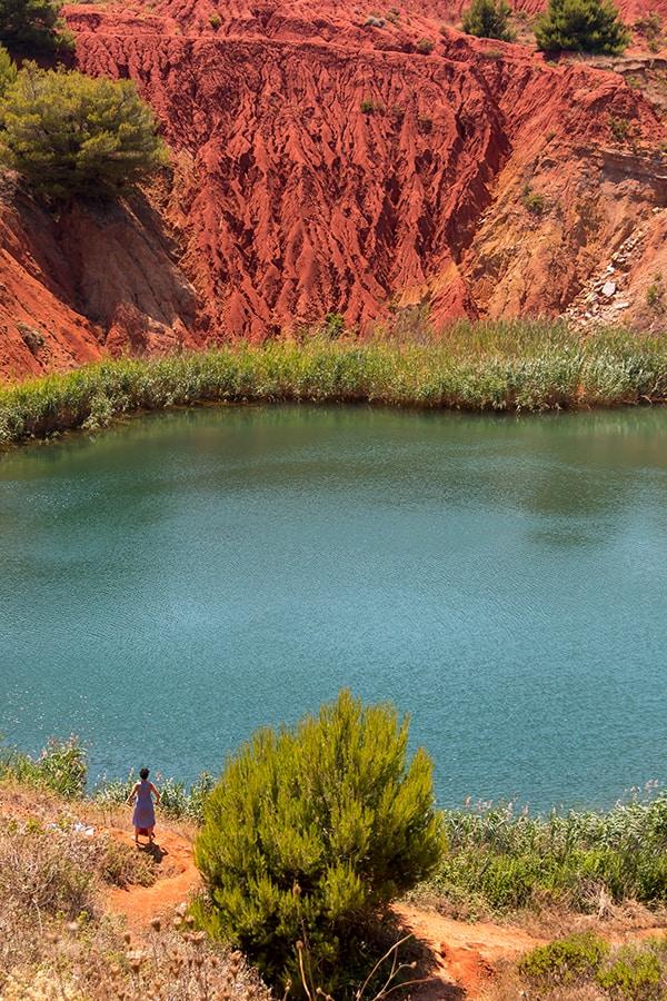 Bauxite Lake near Otranto, Puglia