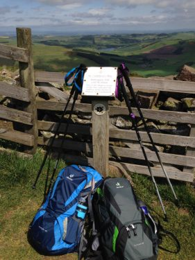 Wideopen hill, highest point on the St cuthberts Wayway