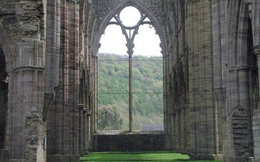 Walks in Tintern Abbey Interior