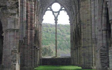 Walks in Tintern Abbey Interior